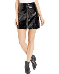 Romeo and Juliet Couture - Zip Front Shiny Mini Skirt - Lyst