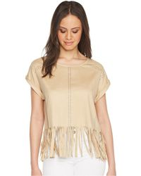 Romeo and Juliet Couture - Suede Fringe Top - Lyst