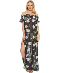 Robin Piccone - Elisa Sheer Off The Shoulder Maxi Dress Cover-up - Lyst