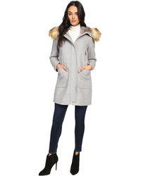 Vince Camuto - Faux Fur Trim Wool L8371 - Lyst