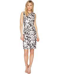 Calvin Klein - Printed Sheath Dress - Lyst
