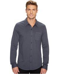 Mod-o-doc - Summerland Knit Long Sleeve Jersey Button Front Shirt - Lyst