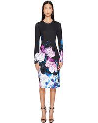 Prabal Gurung - Printed Viscose Long Sleeve Knit Dress - Lyst