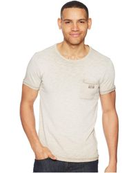 Scotch & Soda - Oil-washed Tee With Cut & Sewn Styling - Lyst