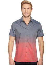 Perry Ellis - Short Sleeve Ombre Horizontal Pattern Shirt - Lyst