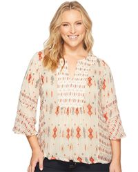 Lucky Brand - Plus Size Mix Print Boho Top - Lyst