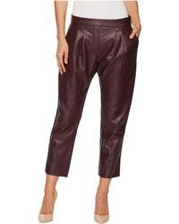 Catherine Malandrino - Cropped Pleated Pants - Lyst