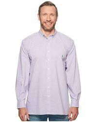 0ccf719b Polo Ralph Lauren - Big Tall Poplin Long Sleeve Sport Shirt  (grapevine/white)