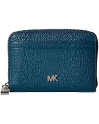 58a10cab34fe Michael Kors Sutton Leather Continental Wallet in Gray - Lyst