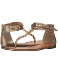 f7e0050bc17c2 Lyst - G By Guess Lander Toe Thong Chain Sling Back Strap Sandal