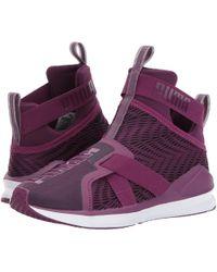 0f01d30be17 Lyst - Puma Women s Fierce Strap Swirl Sneaker in Black