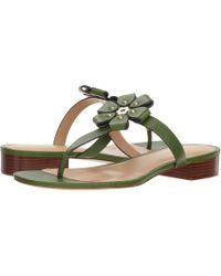 287a1dab3ac Lyst - Taryn Rose Tara Suede Thong Sandal in Gray