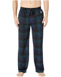 U.S. POLO ASSN. - Luxe Fleece Plaid Pants - Lyst