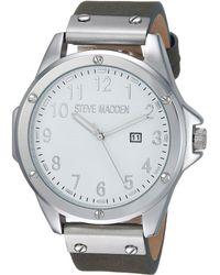 Steve Madden - Minimal Leather Watch - Lyst