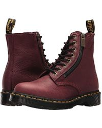 f0e066280 Dr. Martens - Pascal W/ Zip (cherry Red Grizzly) Boots - Lyst