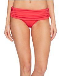 Lauren by Ralph Lauren - Beach Club Solids Wide Shirred Banded Hipster Bottom - Lyst
