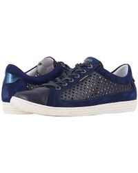 45300c1b0dda2a Mephisto - Hilda Perf (navy Silk/indigo Velcalf Premium/blue Magic) Shoes