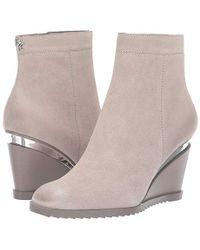 Donna Karan - Dallas - Wedge Bootie (light Grey) Boots - Lyst