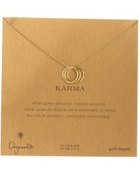 Dogeared - Triple Karma Ring Necklace - Lyst