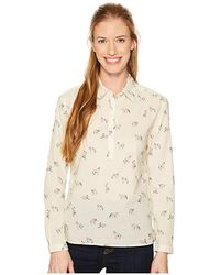 d4048426f Barilles Pullover Shirt (vintage White Coyotes Print) Long Sleeve Button Up