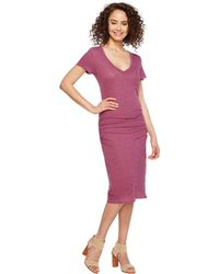 Lanston - Ruched T-shirt Dress - Lyst