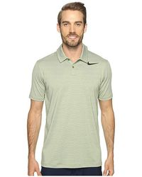 ca7fe3ab Nike - Mobility Control Stripe Polo (palm Green/black) Short Sleeve  Pullover -