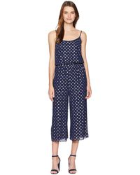 23577a38f15a Lyst - MICHAEL Michael Kors Bengal-striped Wide-leg Jumpsuit in Blue