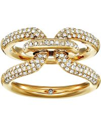 Michael Kors | Iconic Link Pave Ring | Lyst