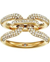 Michael Kors - Iconic Link Pave Ring - Lyst