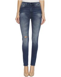 Mavi Jeans - Lucy High-rise Super Skinny In Dark Vintage Gold Icon - Lyst