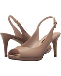 Nine West - Gabrielle Slingback Peep Toe Pump - Lyst
