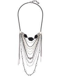 Lucky Brand - Druzy Statement Necklace - Lyst