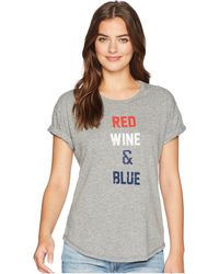 The Original Retro Brand - Red Wine And Blue Rolled Short Sleeve Mocktwist Tee - Lyst
