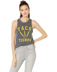 e68f1cad59c576 Chaser - Taco Time Tri-blend Muscle Tank - Lyst