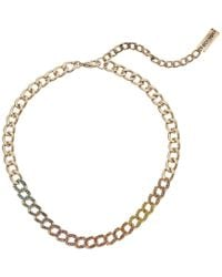 Steve Madden - Casted Curb Lobster Claw Choker Necklace - Lyst