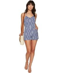49d2e2236f43 Lyst - BCBGeneration Great Outdoors Cutout Romper in Black