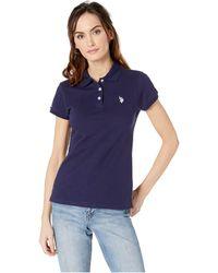 U.S. POLO ASSN. - Solid Pique Polo Shirt - Lyst