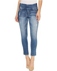 Jag Jeans - Nora Marta Pull-on Skinny Ankle Surrel Denim In River Wash With Color Block - Lyst