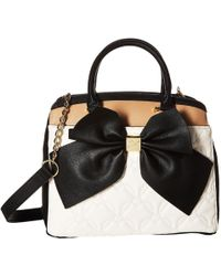 Betsey Johnson - Belted Bow Satchel - Lyst