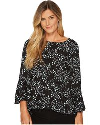 Vince Camuto - Cascading Leaves Flare Cuff Fold-over Blouse - Lyst