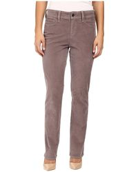 NYDJ - Petite Marilyn Straight Jeans In Corduroy In Alder - Lyst