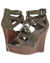 1307b1e820 Violeta by Mango Platform Leather Sandals in Natural - Lyst
