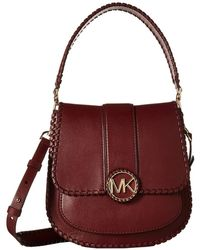 c5cb4cd078e0 Lyst - MICHAEL Michael Kors Lillie Leather Medium Flap Shoulder Bag ...