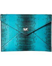 MICHAEL Michael Kors - Barbara Medium Soft Envelope Clutch - Lyst