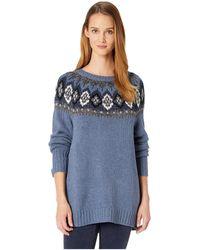 37f863d39a5 Chaps - Cotton Blend Long Sleeve Sweater - Lyst