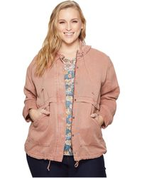 Lucky Brand - Plus Size Hooded Jacket - Lyst