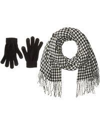 Steve Madden - Houndstooth Magic Gloves Set - Lyst