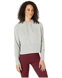 a74f4164765 Nike - Studio Pullover Versa Hoodie (dark Gray Heather/black) Sweatshirt -  Lyst