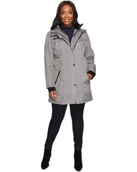 Jessica Simpson - Plus Size Softshell With Bib And Faux Fur Collar - Lyst