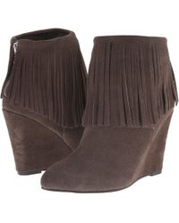 Chinese Laundry - Arctic Fringe Wedge Bootie - Lyst